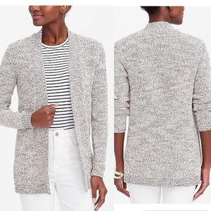 JCrew Marled wool blend long open cardigan